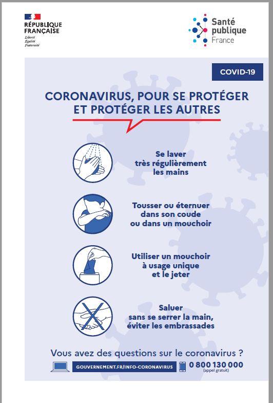 CORONAVIRUS / COVID-19 : pour se protéger et protéger les autres
